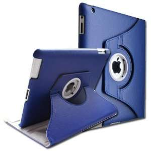 Rotating Stand Smart Cover PU Leather Case for the new iPad 3 / iPad 2