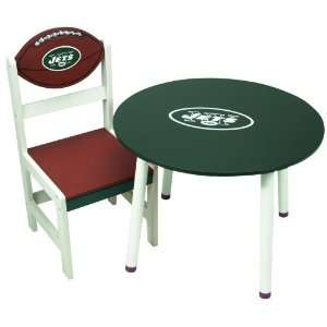 New York Jets Wooden Team Table