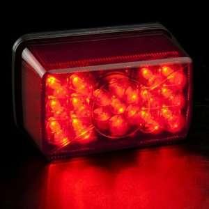 Cafe Racer Dual Red Lens 19 LED 4 SMD Motorcycle Brake Tail Light Lamp