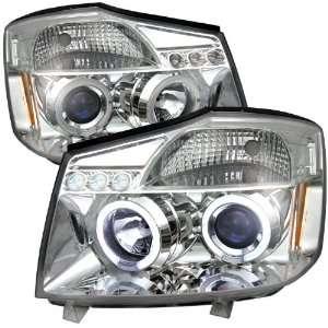 04 07 NISSAN TITAN/ARMADA LED PROJECTOR   CHROME Automotive