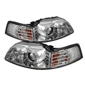 Spider Auto Ford Mustang LED Chrome Projector Headlights Automotive