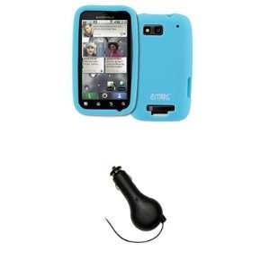 EMPIRE Light Blue Silicone Skin Case Cover + Retractable