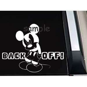 Mickey Mouse Back off Car Window Decal Sticker 8.5 INCH