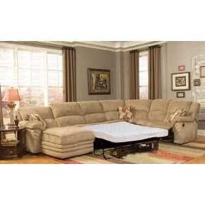 Microfiber 3 Piece Sectional Sofa Sleeper