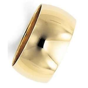 10.0 Millimeters Yellow Gold Heavy Wedding Band Ring 18kt Gold, Plain