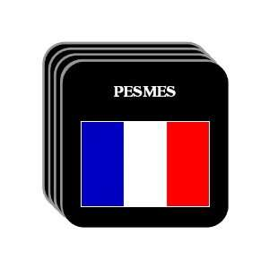 France   PESMES Set of 4 Mini Mousepad Coasters