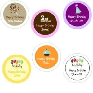 Personalized Birthday Themed Stickers Toys & Games