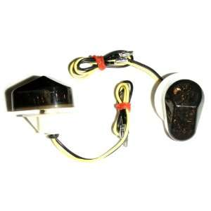 Motorcycle 02 08 Yamaha LED Flushmount Turn Signals Smoked Flush Mount