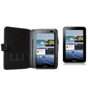 Navitech Black Leather Carry Case / Cover for the Samsung Galaxy Tab 2