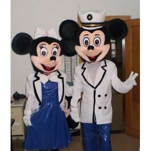 Mickey Mouse Minnie Mouse Navy Uniforms Mascot Costumes Toys & Games