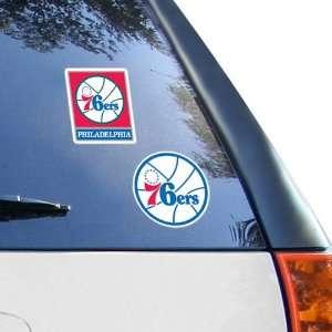 NBA Philadelphia 76ers 2 Pack 4 x 4 Die Cut Decals