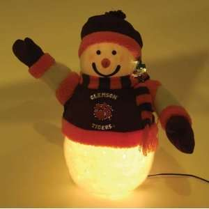 14 NCAA Clemson Tigers Fiber Optic Snowman Christmas