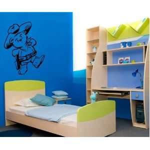 Bear Cowboy Wall Art Mural Sticker Baby Room T524