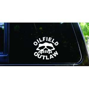 Oilfield Outlaw die cut vinyl roughneck decal / sticker