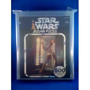 Vintage 1977 Star Wars Series II Puzzle Luke and Leia Leap