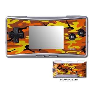 Orange Camo Design GameBoy Micro Decorative Protector Skin