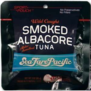 Sea Fare Pacific Albacore Tuna Smoked Sport Pouch 3oz. (12 Pack