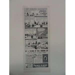 Prince Albert pipe tobacco. Vintage 1939 print ad. (OlJudge Robbins