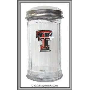 NCAA Texas Tech Red Raiders Glass Sugar Pourer  Sports