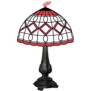 Detroit Red Wings Stained Glass Tiffany Table Lamp Sports