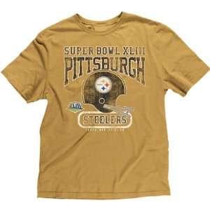 Reebok Pittsburgh Steelers Super Bowl XLIII Retro Helmet T Shirt