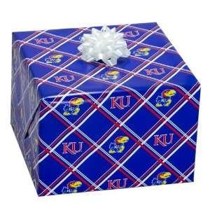 NCAA Kansas Jayhawks Royal Blue Logo Gift Wrap Paper