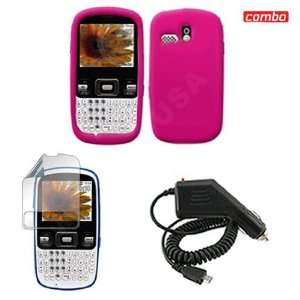 Samsung R350/351 Combo Trans. Hot Pink Silicon Skin Case