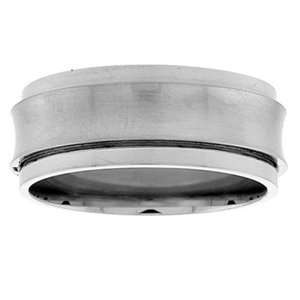 Stainless Steel 3/8 (9.00mm) Spinner Ring w/Concave Satin