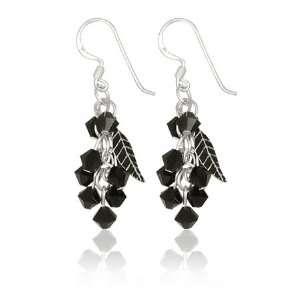 Sterling Silver Swarovski Crystal Earrings   (2.0 cm
