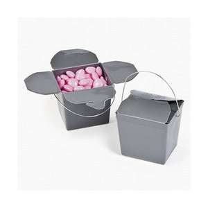 of 12 Silver Mini Chinese Take Out Wedding Favor Boxes: Home & Kitchen
