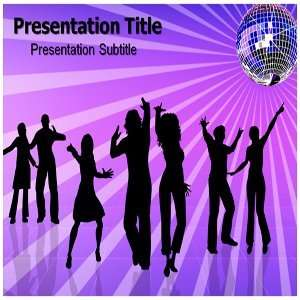 Disco PowerPoint Template   Disco PowerPoint (PPT) Backgrounds