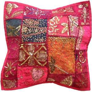 Decorative Throw Pillow Cover Hand Embroidered 140