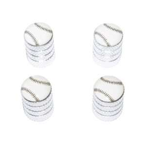 Baseball Softball   Tire Rim Valve Stem Caps   Aluminum Automotive