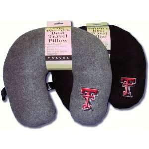 Texas Tech Red Raiders Black Travel Pillow