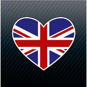Great Britain GB Heart Flag Car Trucks Sticker Decal