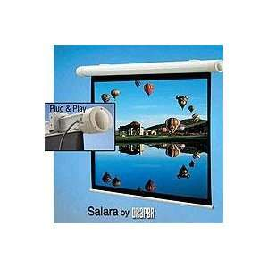 Draper Salara Plug & Play Electric Wall Mount Projection Screen, HDTV