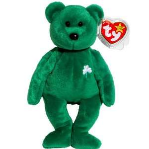 the Green Irish Teddy Bear   MWMT Ty Beanie Babies