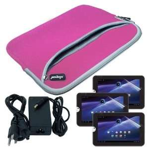 Pocket Carrying Case + Wall Travel Charger for Toshiba Thrive 10.1