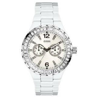 Womens 13553L Stainless Steel Crystal Accented Watch Guess Watches