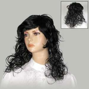 Costume Party Cosplay Long Black Curly Hair Wig Hairpiece