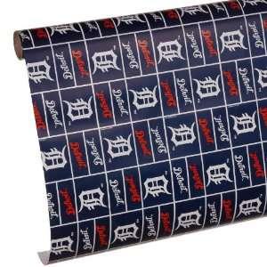 MLB Detroit Tigers Spirit Block Wrapping Paper