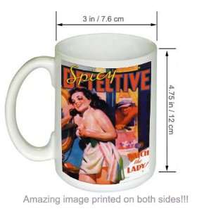 Watch The Lady Spicy Detective Stories Pulp Art COFFEE MUG
