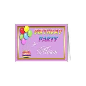 Alison Birthday Party Invitation Card Toys & Games