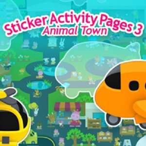 Sticker Activity Pages 3 Animal Town [Download] Software