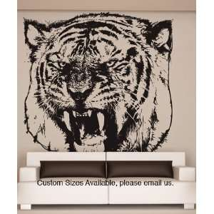Vinyl Wall Decal Sticker Angry Tiger Item790B
