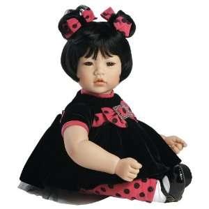 Adora Baby Doll, 20 inch Black Velvet Black Hair/Brown Hair : Toys