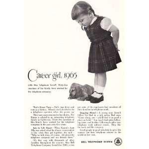Print Ad 1951 Bell Telephone Career Girl Bell Telephone Books