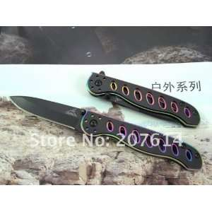 stainless steel folding knife with clip gerber k068b