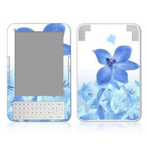 Blue Neon Flower Design Protective Skin Decal Sticker for