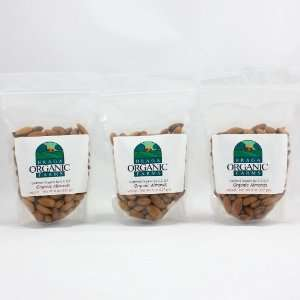Braga Organic Farms Organic Natural Almonds 3 of our 1/2 lb bags